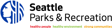 Logo of the City of Seattle Parks & Recreation department